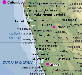 Elpitiya map